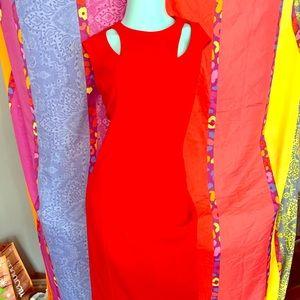 Calvin Klein Red Madmen Retro Dress Size 12